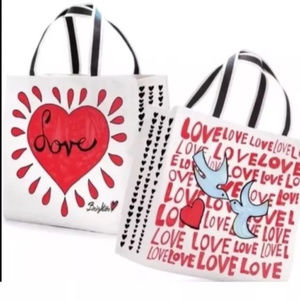 Brighton Tote On the Wings of Doves Love Heart NWT